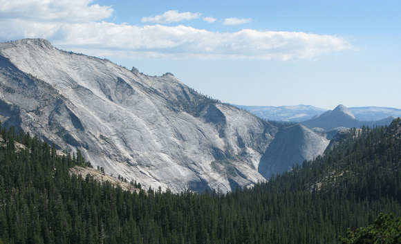 View From Olmsted Point on the way up to Tuolumne Meadows